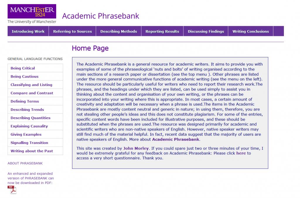 Academic Phrasebank
